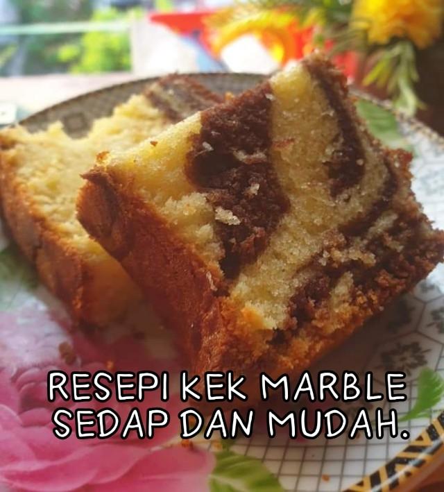 Resepi kek Marble mudah dan sedap. Jom cubanya sendiri.