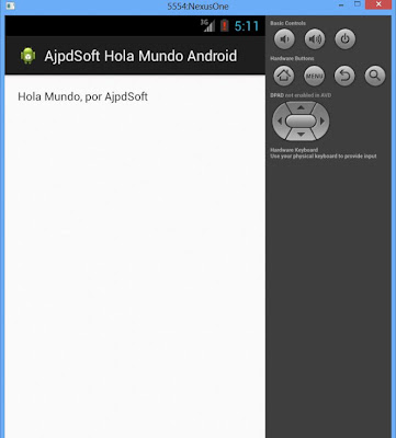 Mi primera aplicación para Android desde Windows 8 con Eclipse