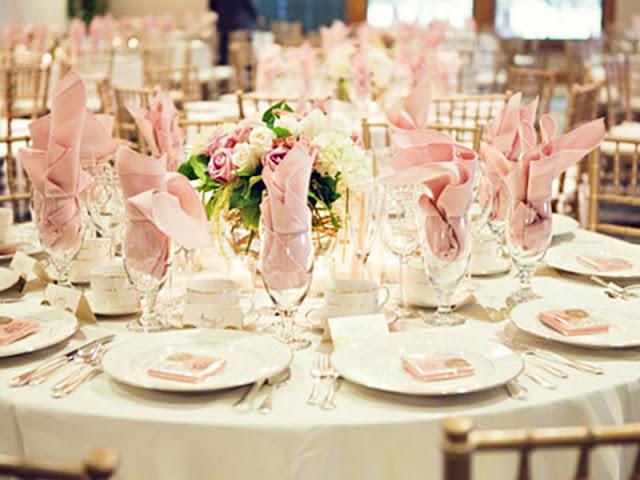 Decoração de festa rosa