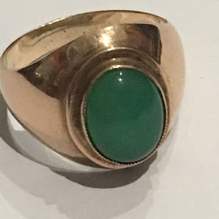 18K Gold and Jade Cocktail Ring