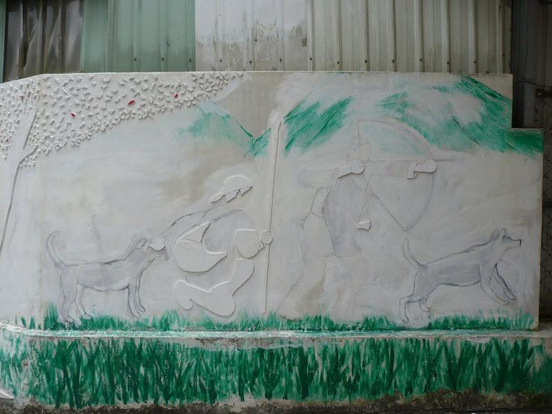 préparatifs de fresques