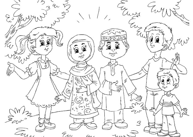 Religious tolerance coloring pages