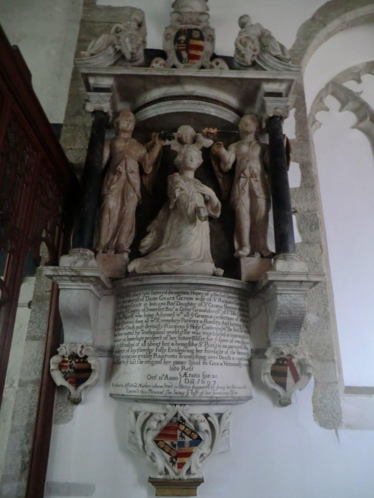 CIMG2577 Dame Grace Gethin monument, All Saints church