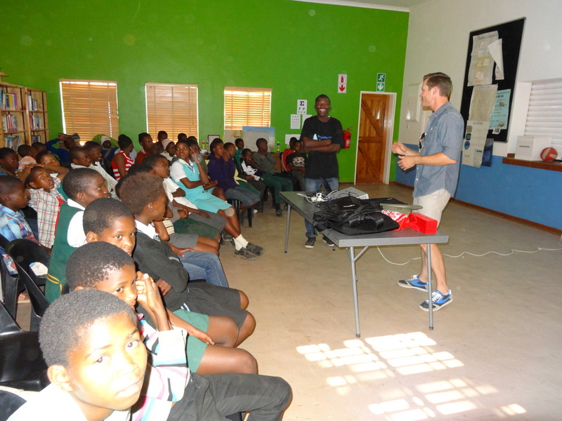 David makes a presentation at Stepping Stones