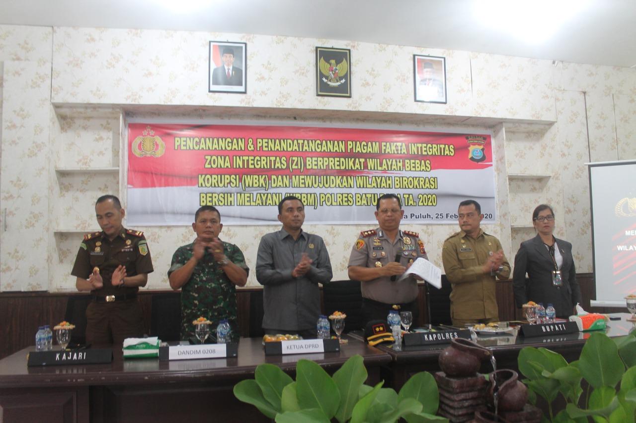 Kapolres Batu Bara, Bangun Zona Intregritas Menuju Wilayah Bebas Korupsi