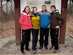 The Traveling Circus and Crew: from left, Kate, Emily, Jason, & Brandon