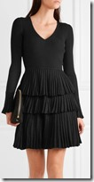 Diane von Furstenberg ruffled skirt ribbed dress