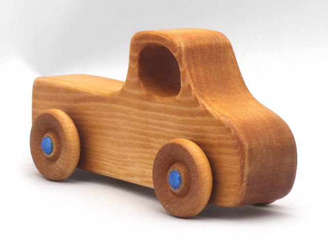Handmade Wood Toy Pickup Truck from the Play Pal Series