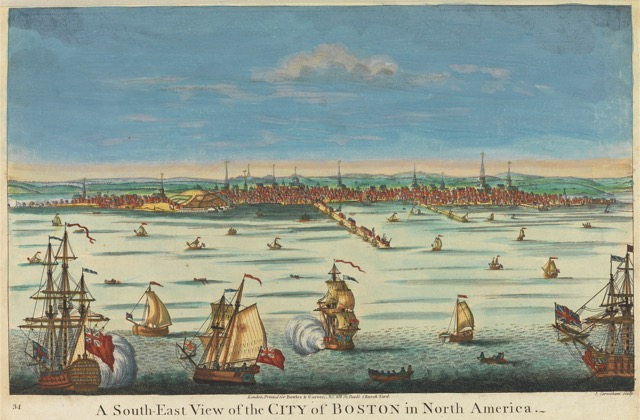 A South East View of the City of Boston in North America 1