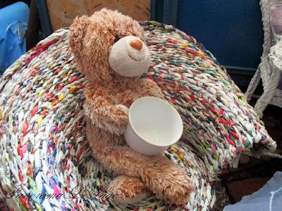 decoupage wiklina papierowa koszyk wazon patera fili�anka spodek r�e kwiaty dekoracje dekoracja shabby chic owoce prezenty pomys�y pomys� mieszkanie wn�trze Panorama LeSage