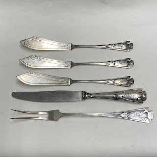 H. Meyen Co 800 Silver  5 Piece Serving Set