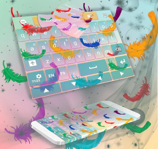 五顏六色的羽毛鍵盤