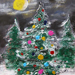 Snowy Night Holiday Trees Arty Party.jpg