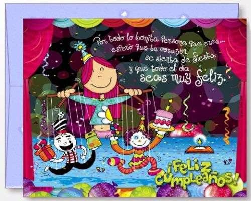 Tarjeta de felicitacion de cumpleaños