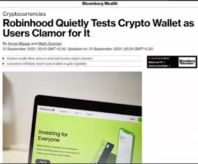 Robinhood is secretly testing the crypto wallets