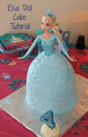 One Bowl Elsa Doll Cake Tutorial Frozen Party Ideas