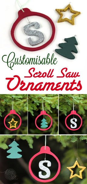 Customizable Wooden Scrool saw ornaments