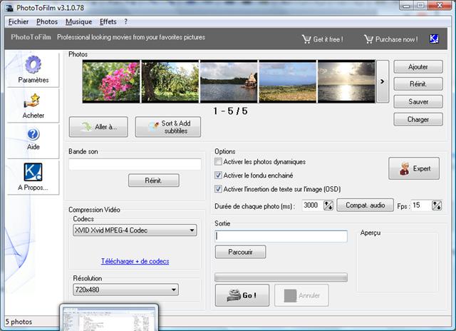 برنامج عمل فيديوهات من الصور PhotoToFilm 3.4.3 لويندوز