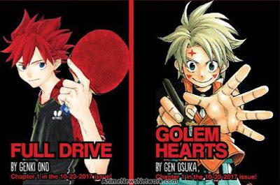 Golem Hearts Manga Akhir di Shonen Jump Full Drive, Golem Hearts Manga Akhir di Shonen Jump