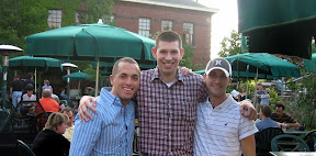 with pals from childhood and high school water polo and a few other things:  LT Josh Fenton (Army), LT Ben Vigil (USAF), and Airman Heath Anderson (USAF)