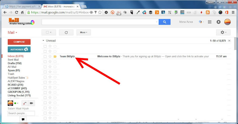 BillPlz Activation eMail