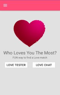 Love Tester Chat - náhled