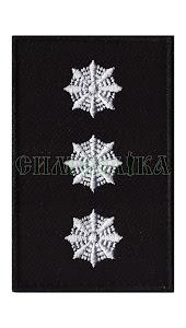 Погон Поліція Старший лейтенант липучка
