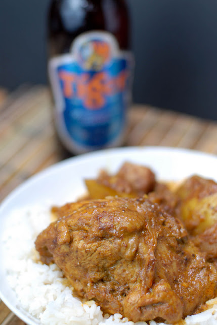 plate of chicken nonya curry