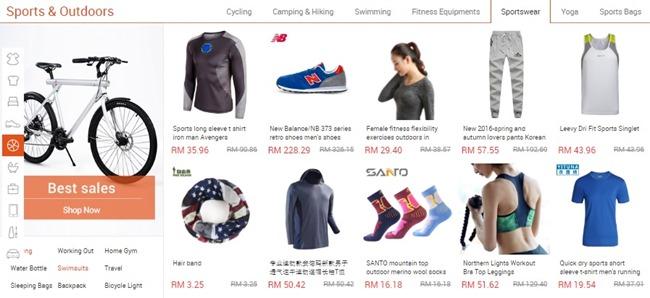 pakaian sukan di ezbuy malaysia