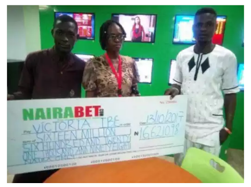 NEVER GIVE UP!! This Nigerian Woman Predicted 7 Straight Draws On Nairabet & Won N16.6m (Photos)