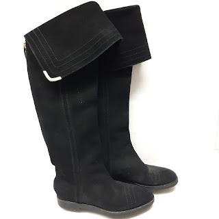 Louis Vuitton Knee High Suede Boots