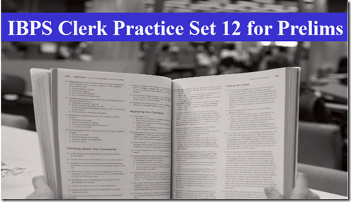 IBPS Clerk Preliminary Question paper PDF Set 12