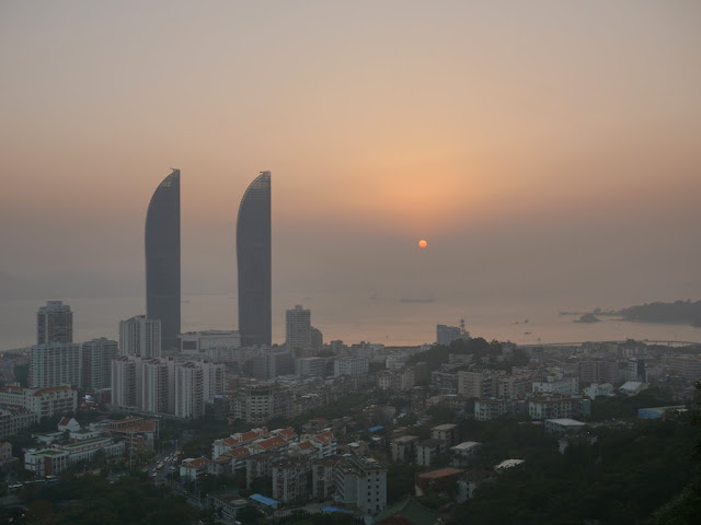 sunset in Xiamen, China