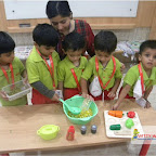Healthy Bhel Day Celebrated by Playgroup Evening Section at Witty World, Chikoowadi(2017-18)
