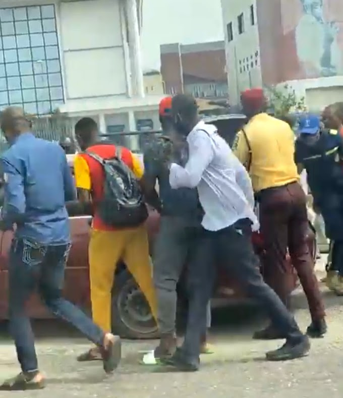One-chance operator caught red-handed trying to kidnap a lady after robbing her in Lagos (video)