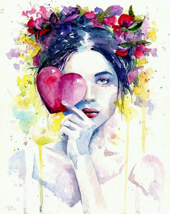 Wallpaper Lukisan Wanita Keren