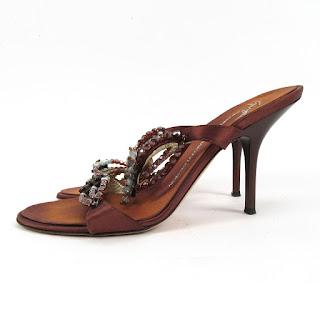 Vicini Giuseppe Zanotti Bedazzled Silk Sandals