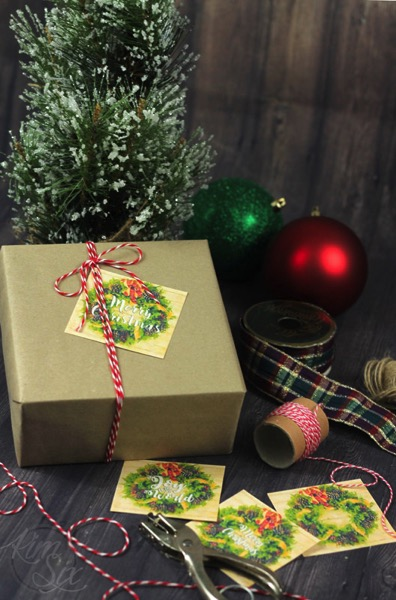 Free printable gift tags with bakers twine