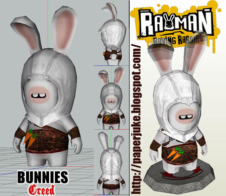 Bunnies Creed Papercraft Assassin