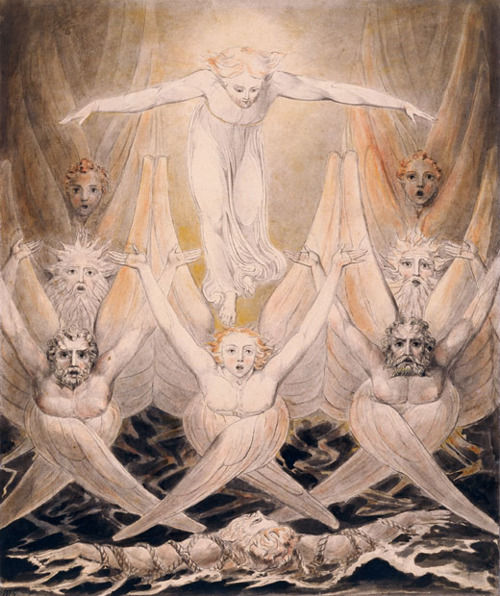 David Delivered Out Of Many Waters Circa 1805 By William Blake, William Blake