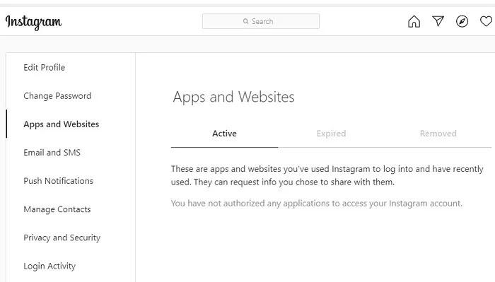 جميع حسابات البريد الإلكتروني تطبيقات ومواقع Instagram