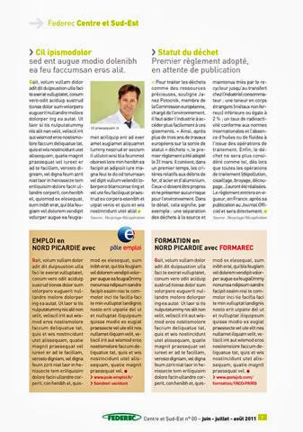 création magazine Federec région centre -Victoires 07