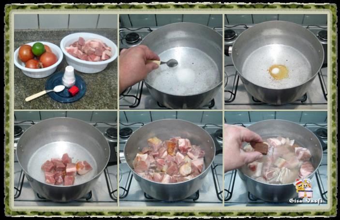 Cubinhos dourados de carne de porco 3