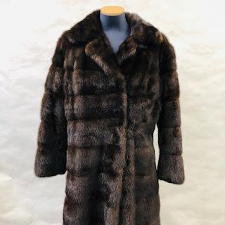 **SALE** Mink Horizontal Pelt Fur Coat