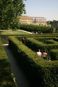 Glenn in the labyrinth at Schonbrunn