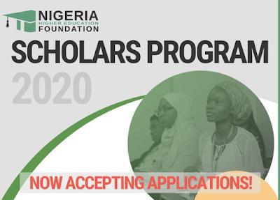 SCHOLARSHIP!  2018 Nigeria Higher Education Foundation (NHEF) Scholars Program