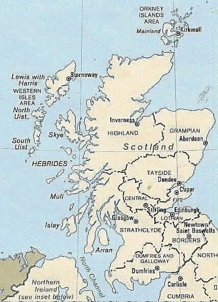 Cartina Stradale Della Scozia.Isola Di Skye Scozia Cartina