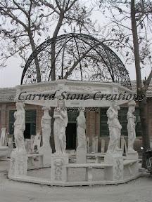 carved stone, Dome, Exterior, Gazebo, Gazebos, Ideas, Landscape Decor, Statue