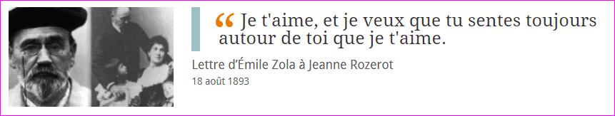 La Lettre d'Émile Zola à Jeanne Rozerot