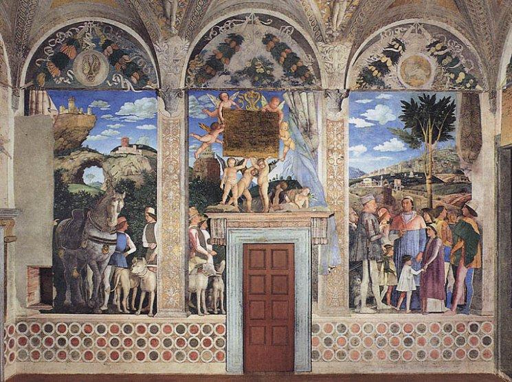 La favola della botte mantova palazzo ducale l arte for Mantova camera sposi